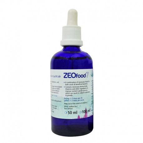 Korallen Zucht ZeoFood 7 da 50 ml.
